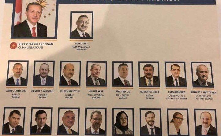 Erdoğan yeni yönetim sisteminin ilk kabinesini açıkladı