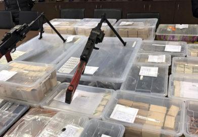 Sofya'da çok büyük miktarda silah ele geçirildi